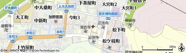 岐阜県岐阜市大仏町周辺の地図
