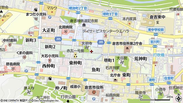 〒682-0884 鳥取県倉吉市研屋町の地図