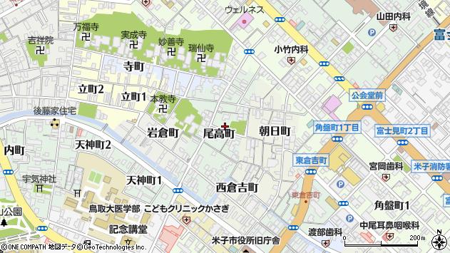 〒683-0814 鳥取県米子市尾高町の地図