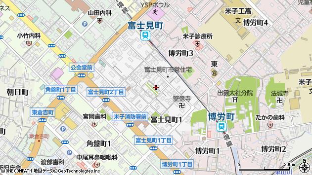 〒683-0055 鳥取県米子市冨士見町の地図
