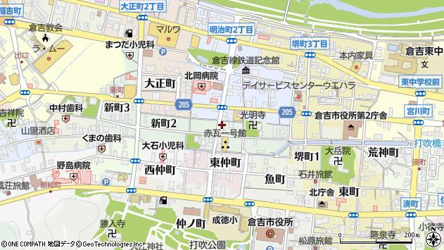 〒682-0861 鳥取県倉吉市新町の地図