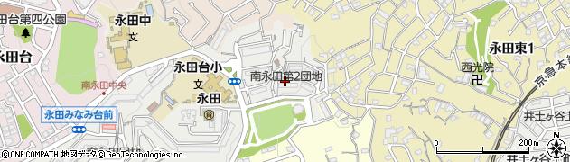 南永田第二団地周辺の地図