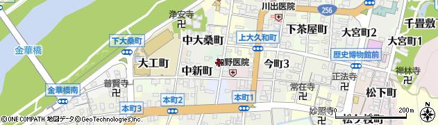 岐阜県岐阜市久屋町周辺の地図