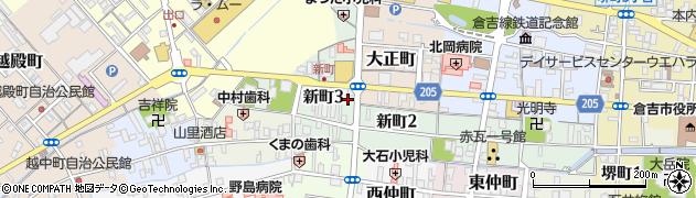ゲストハウス梅月・旅館周辺の地図
