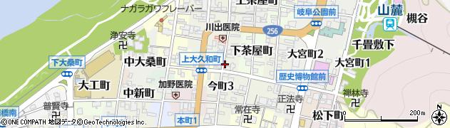 岐阜県岐阜市今町周辺の地図