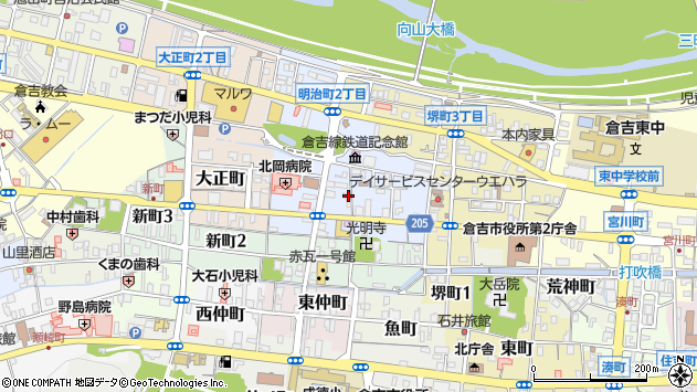 〒682-0887 鳥取県倉吉市明治町の地図