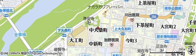 岐阜県岐阜市中大桑町周辺の地図
