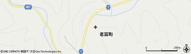 京都府綾部市老富町(上戸石)周辺の地図