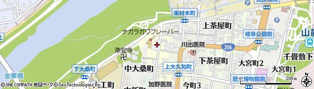 岐阜県岐阜市西材木町周辺の地図