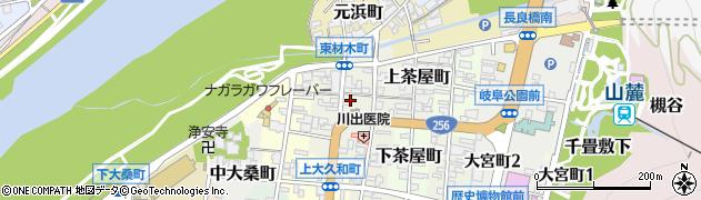 岐阜県岐阜市東材木町周辺の地図