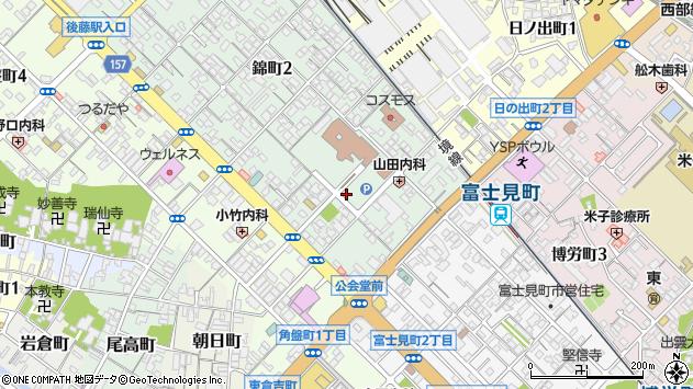 〒683-0811 鳥取県米子市錦町の地図