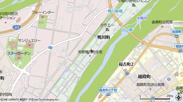〒682-0923 鳥取県倉吉市鴨川町の地図