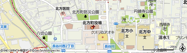 岐阜県本巣郡北方町周辺の地図