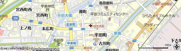 島根県出雲市平田町(元町)周辺の地図
