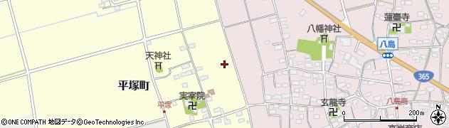 滋賀県長浜市平塚町周辺の地図