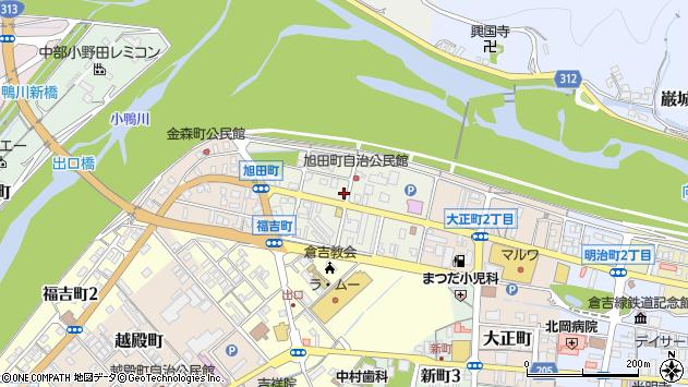 〒682-0871 鳥取県倉吉市旭田町の地図