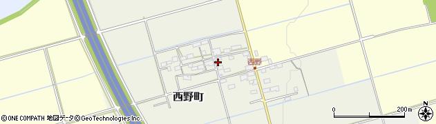 滋賀県長浜市西野町周辺の地図
