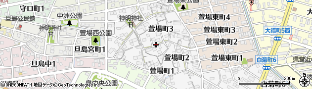 岐阜県岐阜市萱場町周辺の地図