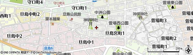 岐阜県岐阜市旦島宮町周辺の地図
