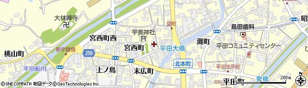 島根県出雲市平田町(宮ノ町)周辺の地図