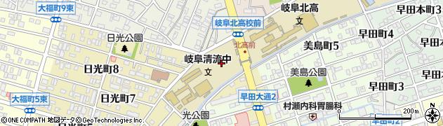 岐阜県岐阜市早田周辺の地図