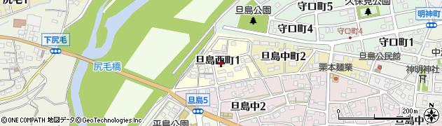 岐阜県岐阜市旦島西町周辺の地図