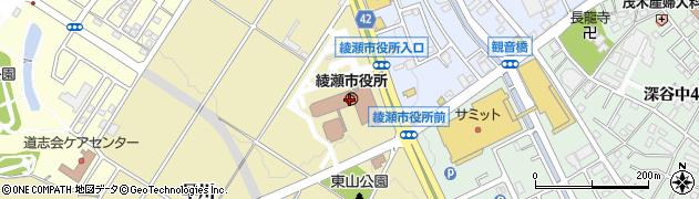 神奈川県綾瀬市周辺の地図