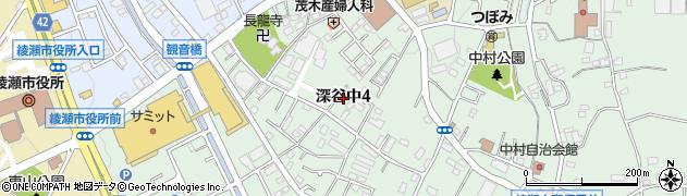 神奈川県綾瀬市深谷中4丁目周辺の地図