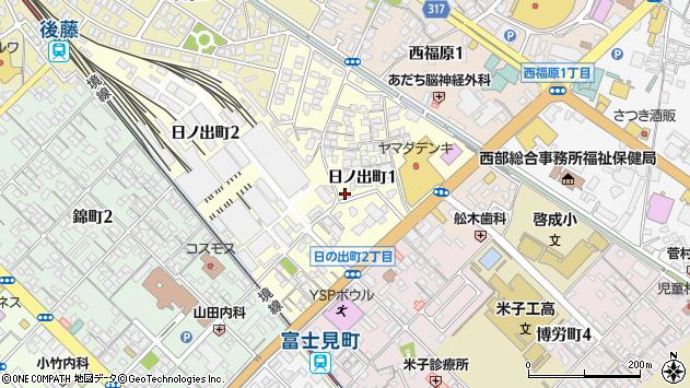 〒683-0803 鳥取県米子市日ノ出町の地図