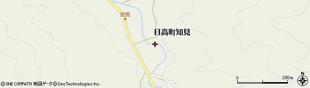兵庫県豊岡市日高町知見周辺の地図