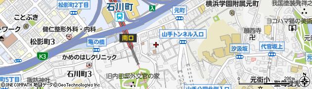 神奈川県横浜市中区石川町1丁目周辺の地図