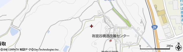 鳥取県鳥取市祢宜谷周辺の地図