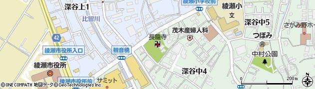 長竜寺周辺の地図