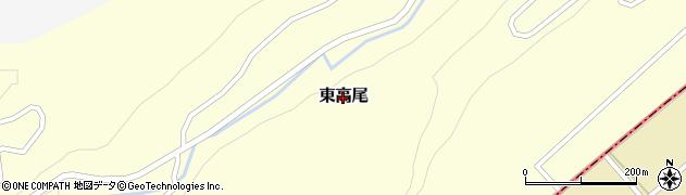 鳥取県北栄町(東伯郡)東高尾周辺の地図