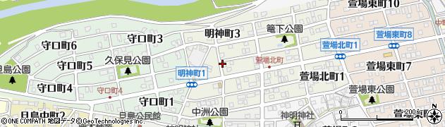 岐阜県岐阜市明神町周辺の地図