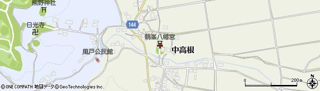 鶴峯八幡宮周辺の地図