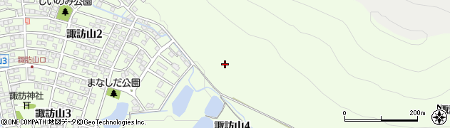 岐阜県岐阜市諏訪山周辺の地図