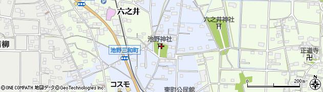 池野神社周辺の地図