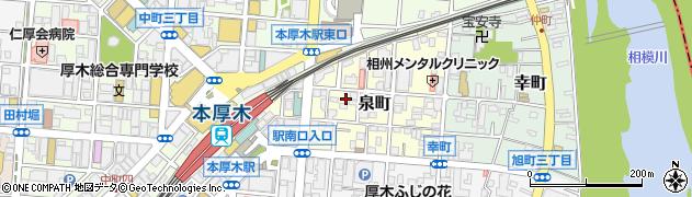 神奈川県厚木市泉町周辺の地図