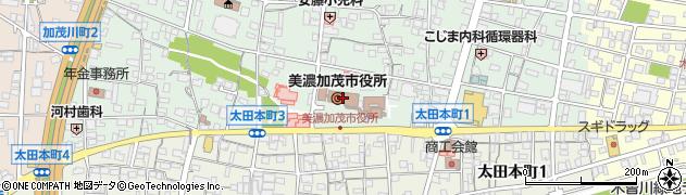 岐阜県美濃加茂市周辺の地図