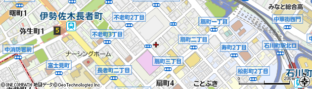 神奈川県横浜市中区翁町2丁目周辺の地図