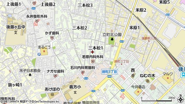 〒683-0842 鳥取県米子市三本松の地図