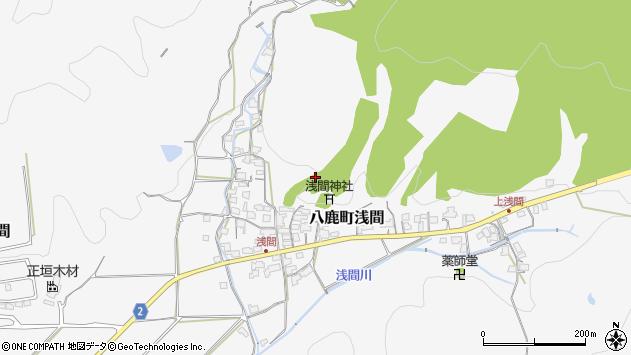 〒667-0011 兵庫県養父市八鹿町浅間の地図