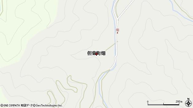 〒668-0303 兵庫県豊岡市但東町畑の地図
