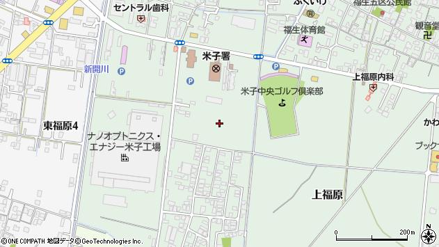 〒683-0004 鳥取県米子市上福原の地図