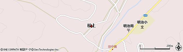 鳥取県鳥取市松上周辺の地図