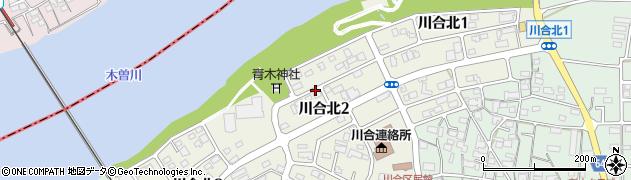 岐阜県可児市川合北周辺の地図