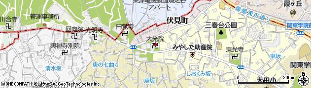 大光院周辺の地図