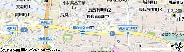 岐阜県岐阜市長良金碧町周辺の地図