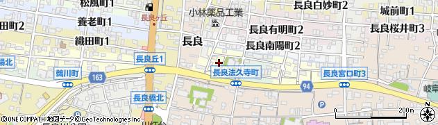 岐阜県岐阜市長良法久寺町周辺の地図